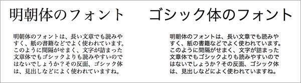 フォントの比較