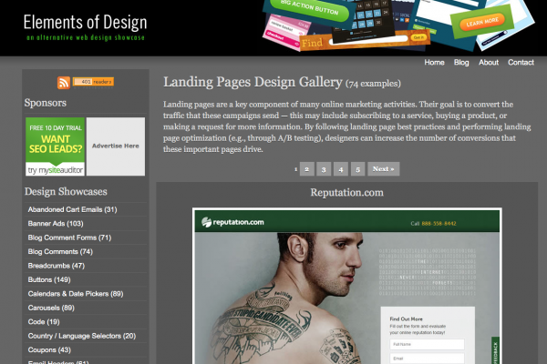 Elements of Design / Landing Page