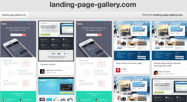 Pinterest | Landing Page Gallery