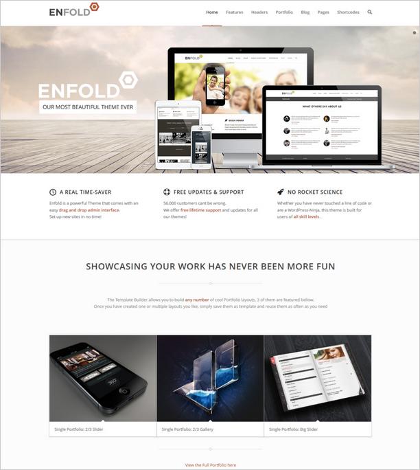 WordPressを利用した企業サイトの例
